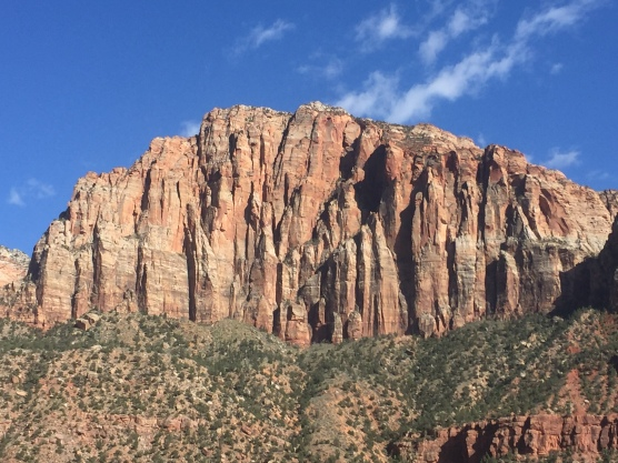 Scenic views on the drive through Zion on our way to Bryce Canyon