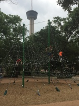 Tower of the Americas in the background