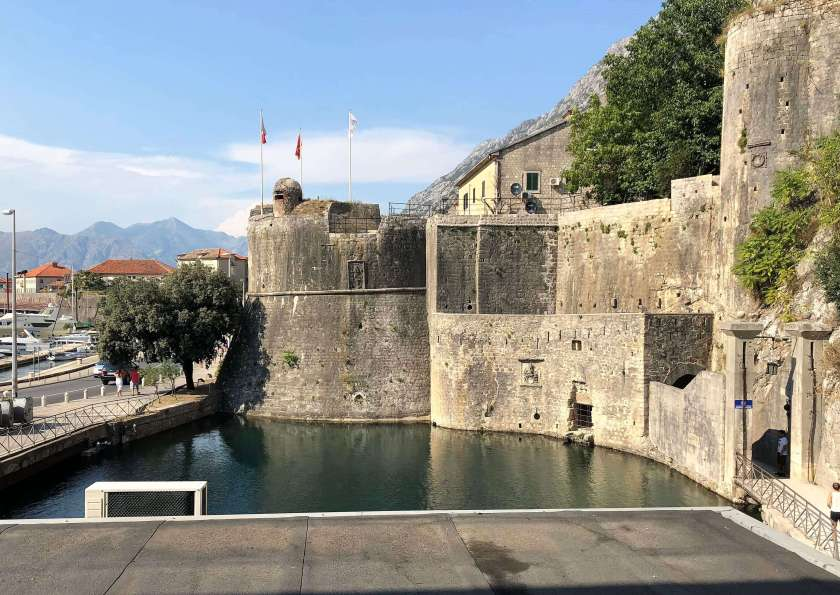 city walls of Kotor, Montenegro